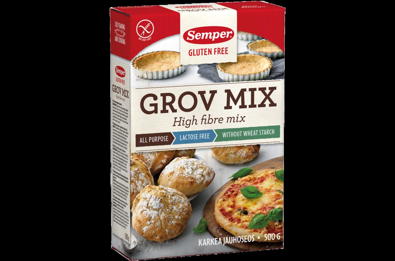 Semper Grov Mix, glutenfri och grov mjölmix