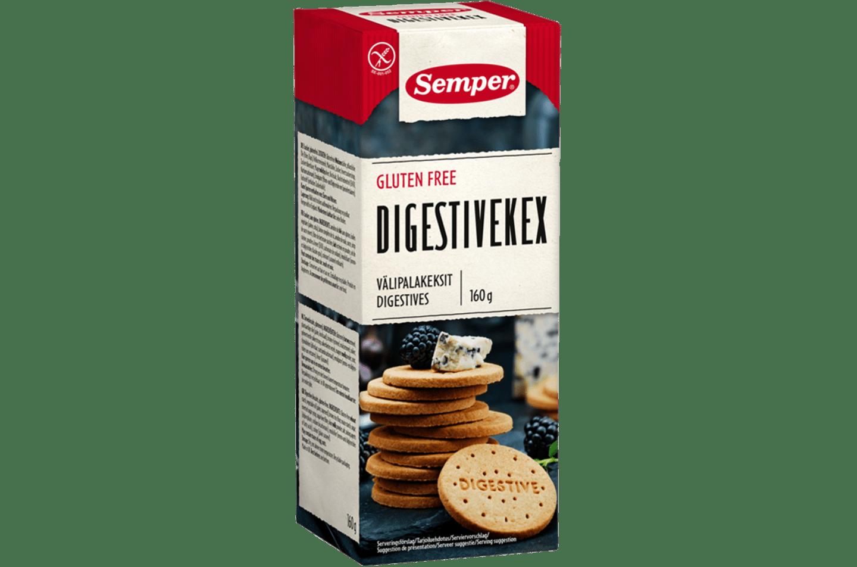 Semper Digestivekex, glutenfria och spröda digestivekex