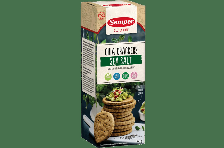 Semper Chia Crackers, glutenfria kex med chia