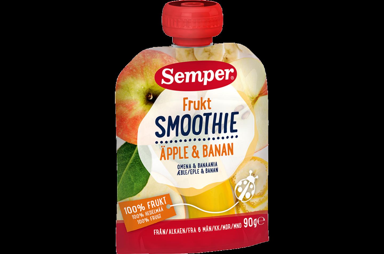 Fruktsmoothie Äpple & Banan från Semper Barnmat
