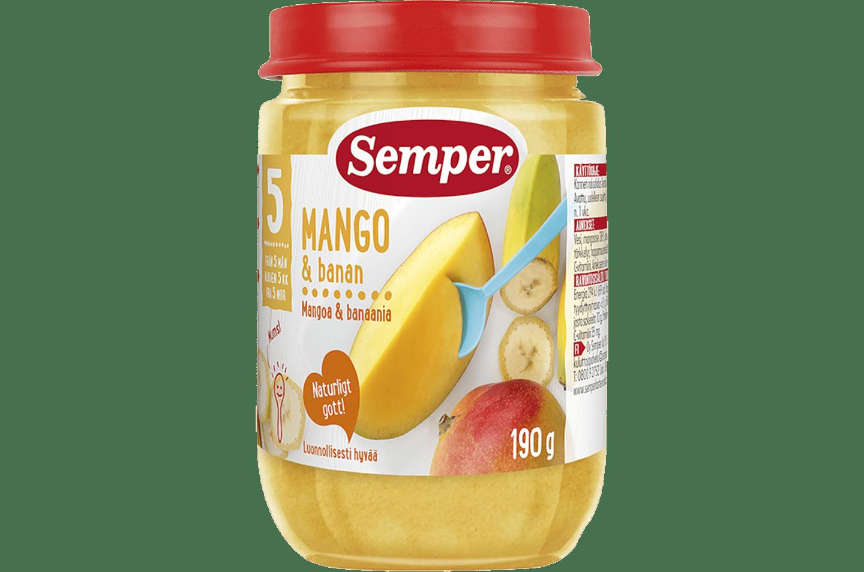 Mango & Banan 5M från Semper Barnmat