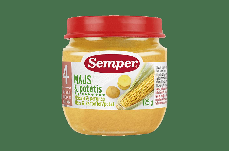 Majs & Potatis 4M från Semper Barnmat