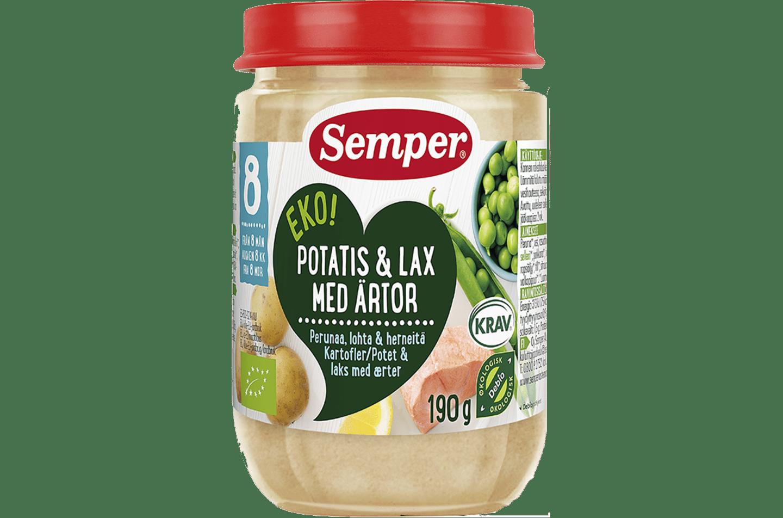 Potatis & lax med ärtor från Semper Barnmat
