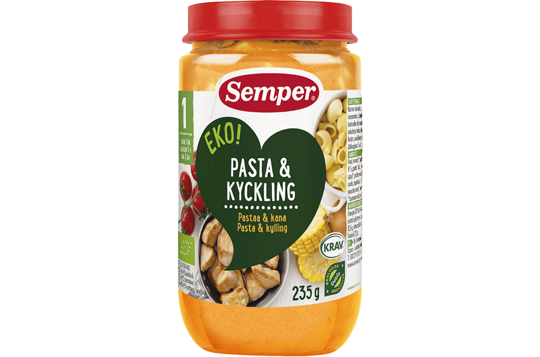 EKO Pasta & Kyckling från Semper Barnmat
