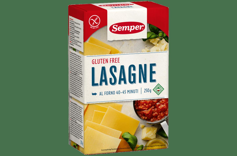 Glutenfria lasagneplattor från Semper