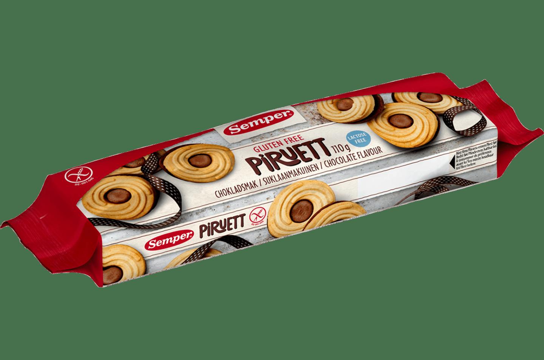Semper Piruett Choklad, glutenfria chokladkakor