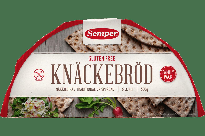 Semper Knäckebröd, ett glutenfritt knäcke i halvmånar