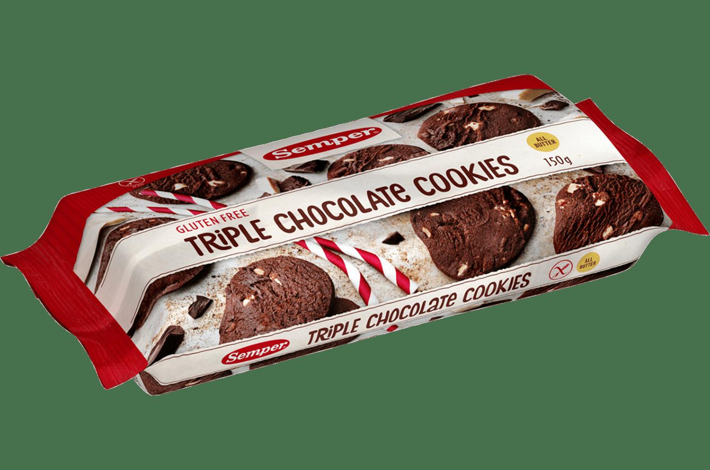 Semper Triple Chocolate cookies, glutenfria chokladkakor