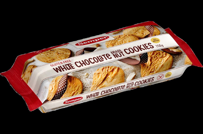 Semper Strawberry White Chocolate Cookies, glutenfria småkakor