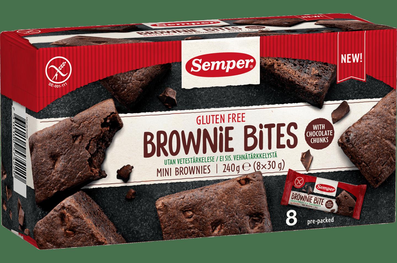 Semper Brownie Bites, glutenfria och saftiga brownies