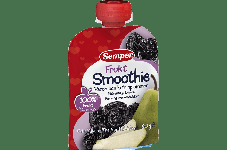 Fruktsmoothie Päron & katrinplommon från Semper Barnmat
