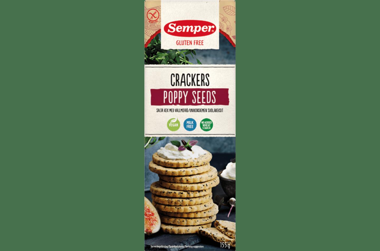 Glutenfri Crackers Poppy Seeds