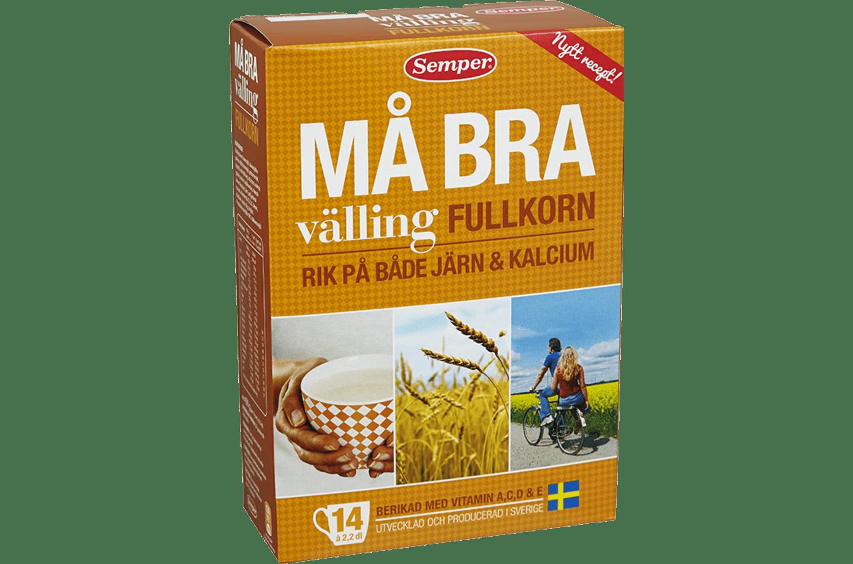 Semper Må Bra välling, gul förpackning med välling