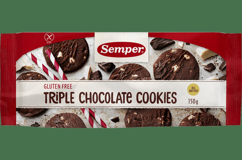 Glutenfri Triple chocholate cookies
