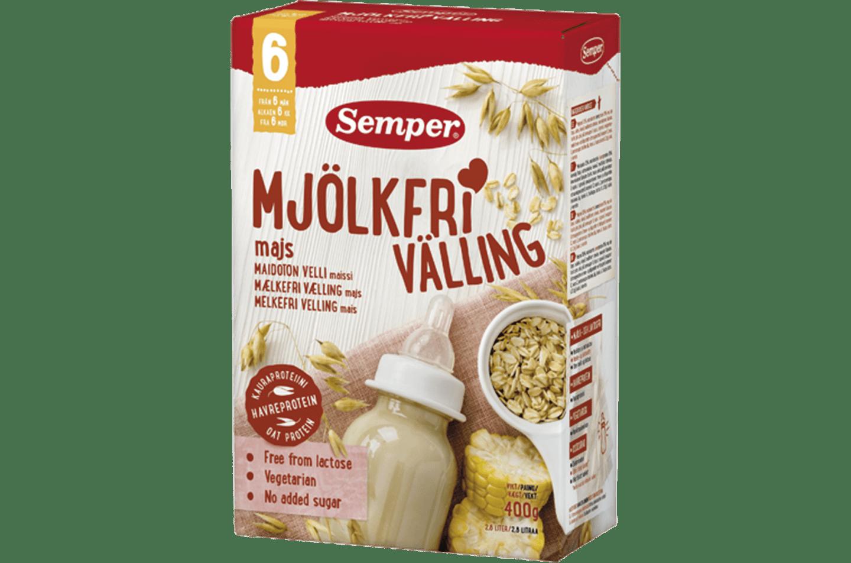 Sempers mjökfria välling med majs, från 6 månader