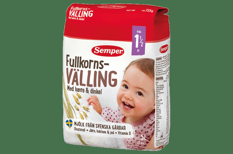 Semper Fullkornsvällingmed havre & kornfiber 5l, från 1,5 år
