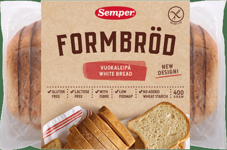 Semper Formbröd, mjukt och glutenfritt bröd från Semper