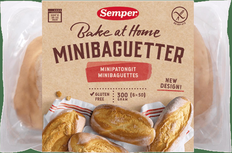 Semper Minibaguetter, glutenfria baguetter från Semper