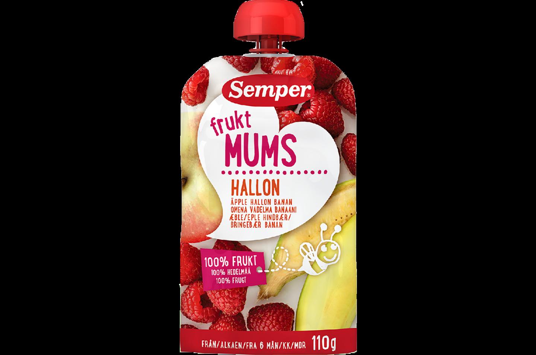 Fruktmums Hallon från Semper Barnmat