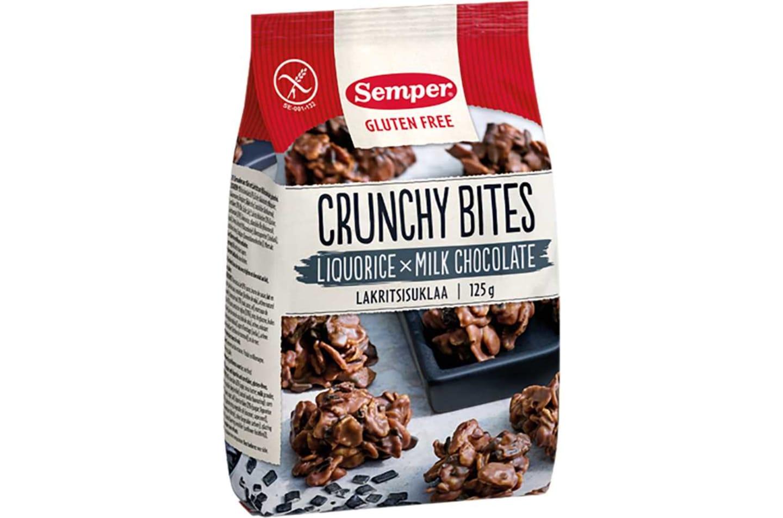 Crunchy Bites Lakritsisuklaa