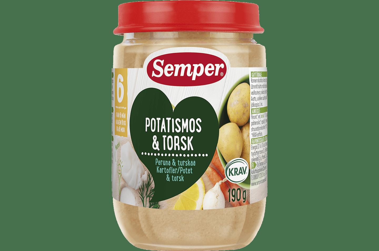 Potatismos & torsk 6M från Semper Barnmat