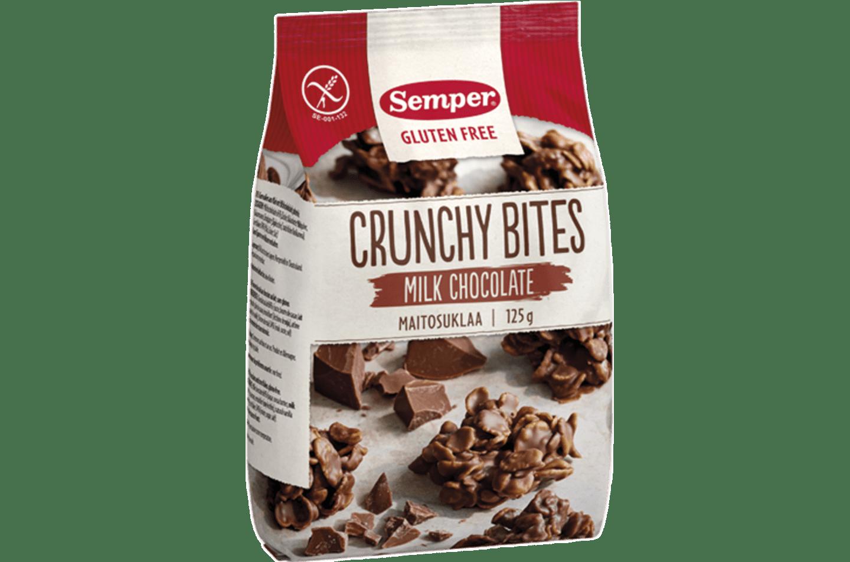 Deilige sprø biter av glutenfrie Cornflakes dyppet i melkesjokolade