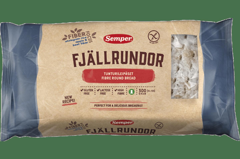 Fjällrundor, glutenfritt mjukt bröd från Semper
