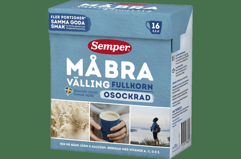 Må Bra välling osockrad - ny förpackning! - Semper