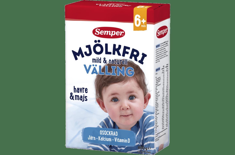 Semper Mjölkfri välling mild & naturell, från 6 mån