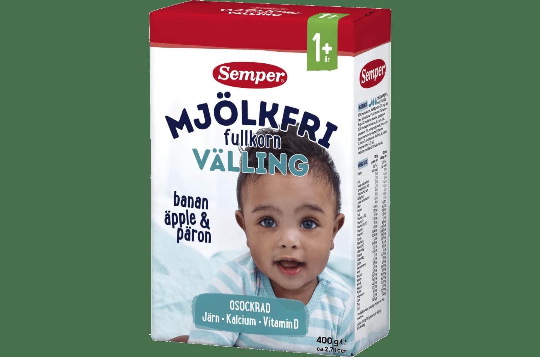Semper Mjölkfri välling med fullkorn, från 1 år
