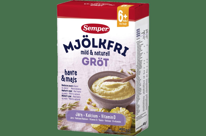 Semper Mjölkfri gröt mild & naturell, från 6 mån