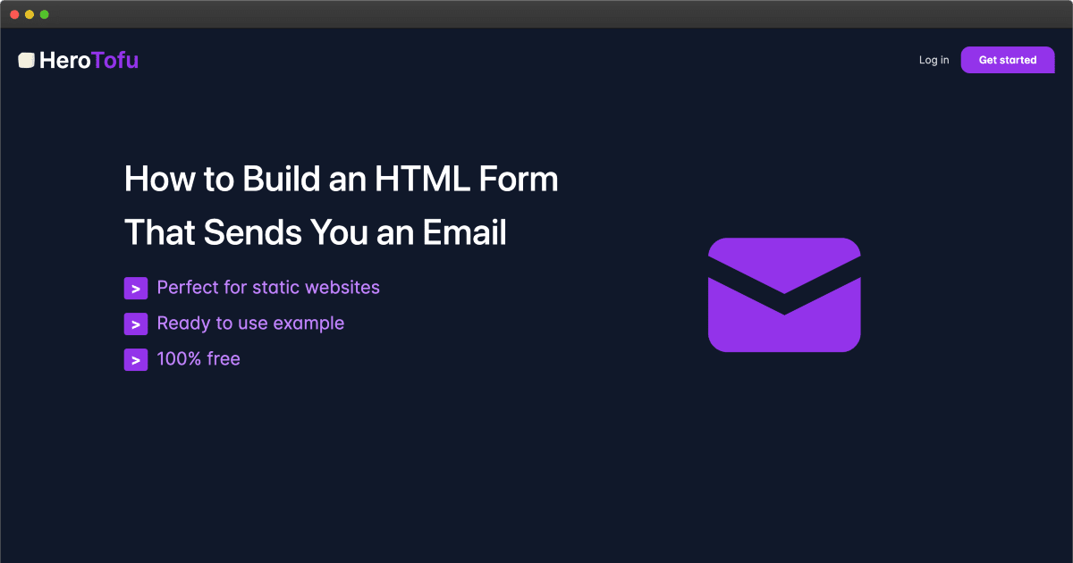 HTML form that sends you an email