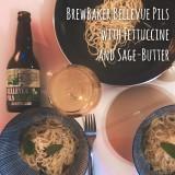 Craft Beer pairing: BrewBaker Bellevue Pils mit Fettuccine und Salbeibutter