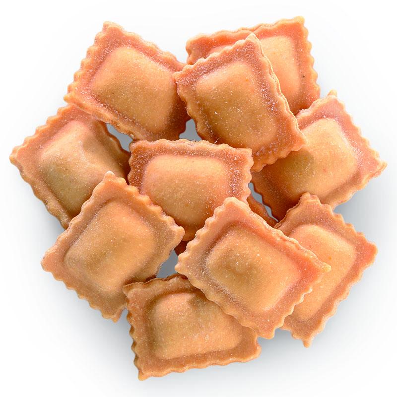 Sorrentino rellenos de parmigiano y jamón ibérico