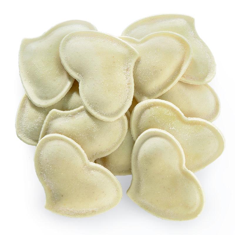 Cuore di zucca rellenos de calabaza y ricotta