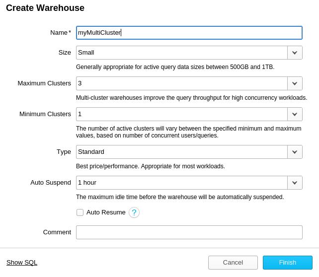 Snowflake Cloud Data Warehouse: Create a Snowflake Data Warehouse
