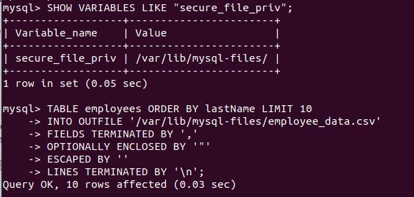 MySQL Export to CSV - Command Line