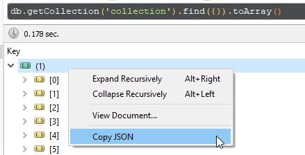 Copying JSON.