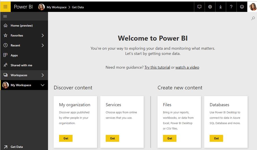 Power BI Dashboard.