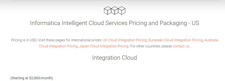 Informatica Pricing.