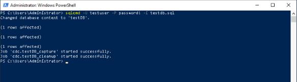 Executing SQL File using th Windows Powershell.