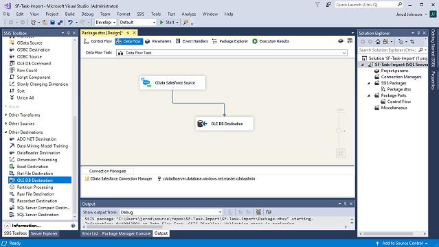 Defining a Data Flow Task: SQL Server REST API Integration.