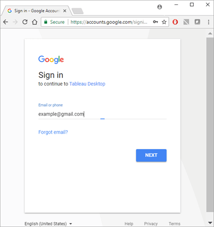 Signing in to Google Sheets.