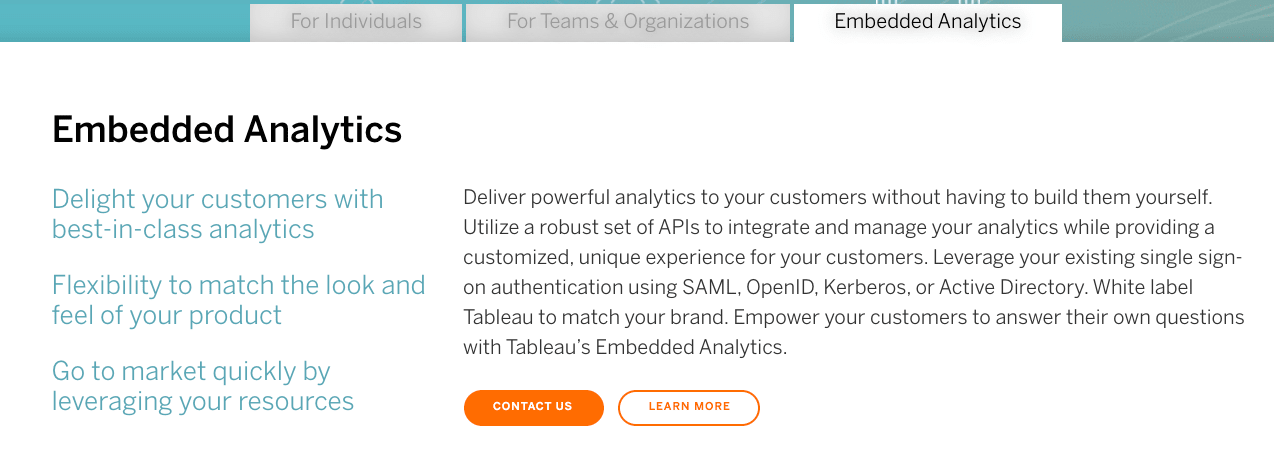 Tableau Embedded Analytics Pricing