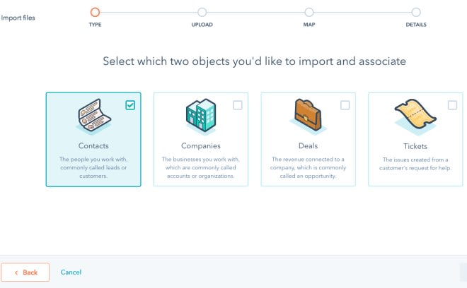 Import types