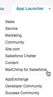 Mailchimp Salesforce Integration: All Launcher