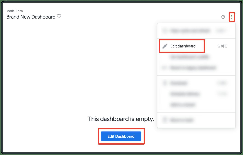 Empty Dashboard