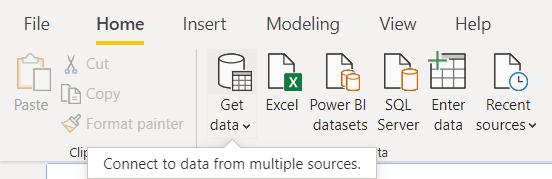 SQL SERVER TO POWER BI: GET DATA