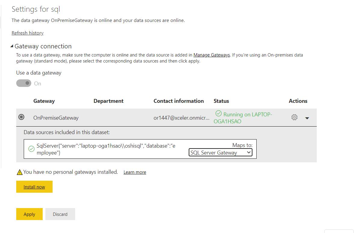 SQL SERVER TO POWER BI: GATEWAY CONNECTION