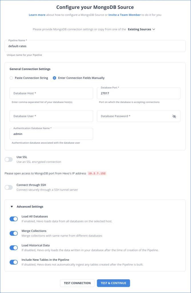 MongoDB to Snowflake Source